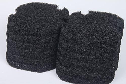 LTWHOME Compatible Noir Excellent Mousseux Filtration Convient pour AquaManta EFX 200 Filtre Extérieur (Paquet de 12)