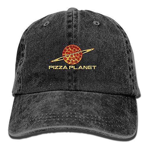 LBJY Pizza Planet Washed Retro Adjustable Denim Hat Sport Hat For Women And Men