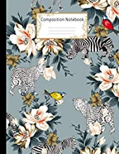 Composition Notebook: Wide Ruled Lined Paper Notebook Journal: Beautiful Flower and Animal Designs Workbook for Adults Girls Kids Teens Students for ... Writing Notes   Large Size 8.5 X 11 Inches