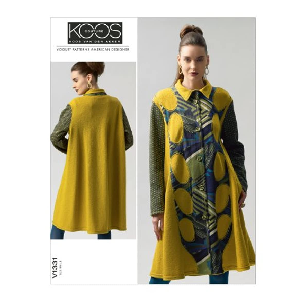 Vogue Patterns V1331 Misses' Coat Sewing Template, Size E5 (14-16-18-20-22)