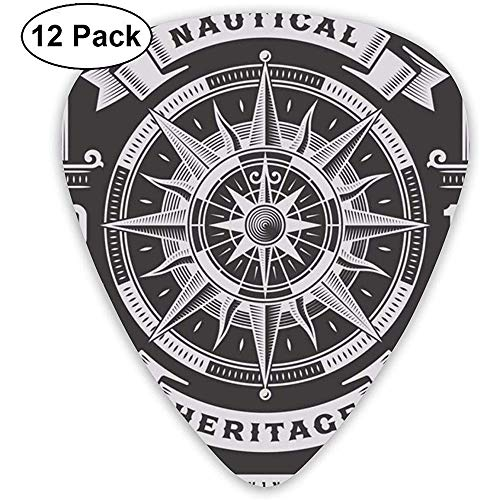 Nautical Heritage Guitar Picks 12 paquetes para bajo, guitar