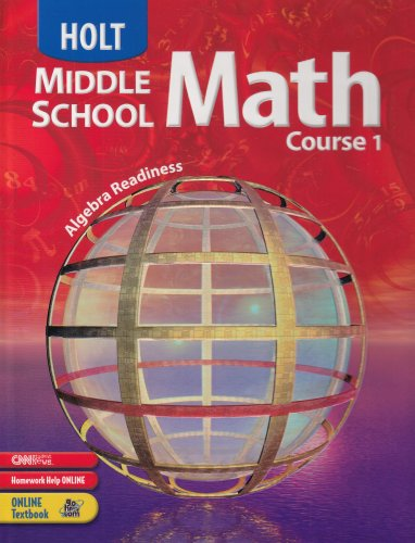 Holt Middle School Math: Student Edition Course 1 2004