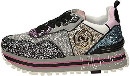 Scarpe Sneaker Liu-Jo Maxi Wonder Glitter Multicolor Donna DS21LJ10