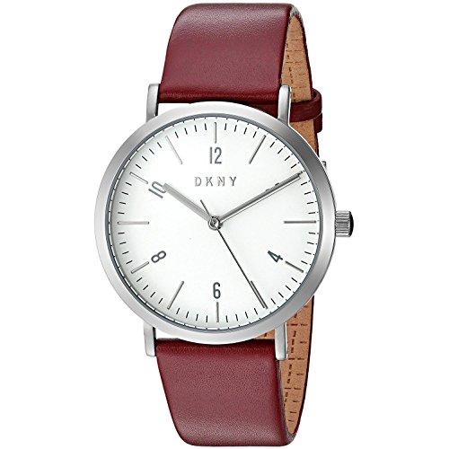 DKNY NY2508 Minetta Uhr Damenuhr Lederarmband Edelstahl 5 bar Analog Rot