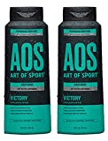 Art of Sport Activated Charcoal Body Wash for Men (2-Pack) - Victory Scent - Cool Eucalyptus Fragrance - Natural Botanicals Tea Tree Oil, Aloe Vera - Intensely Moisturizing - Sulfate Free - 16 fl oz