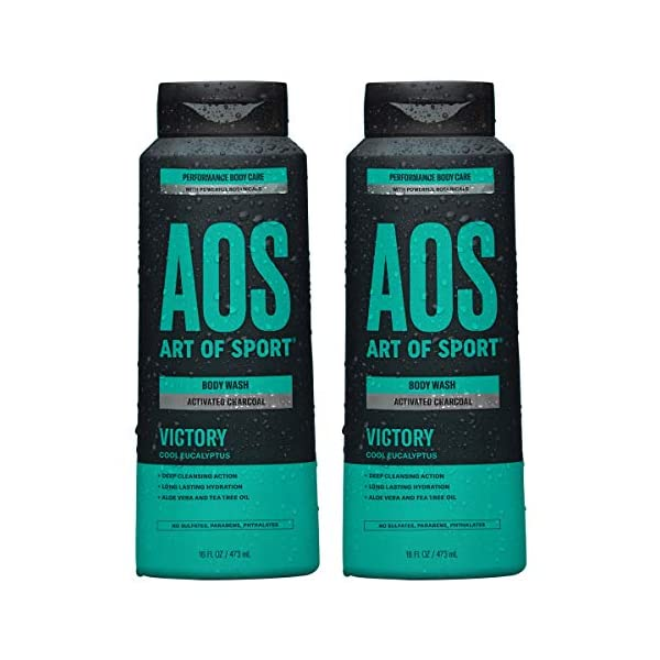 Art of Sport Activated Charcoal Body Wash for Men, Victory Scent, Cool Eucalyptus...
