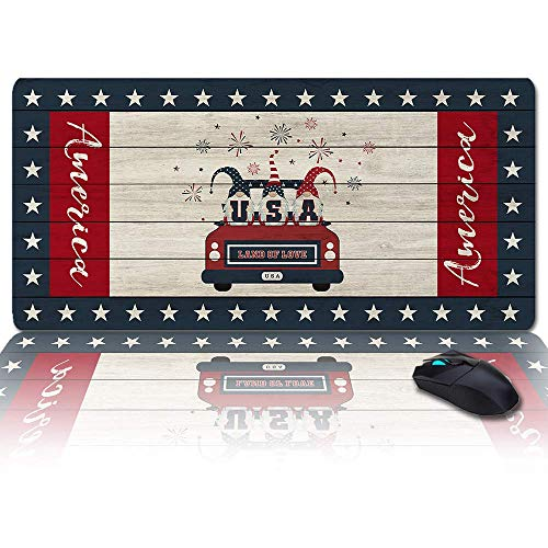 MIGAGA Extra Large Extended Gaming Mouse Pad(35x15 in),I Love Mom,Gnome Truck Quoting Best Mama Ever Mousepad,Long Non-Slip Rubber Base,XXL Large Keyboard Desk Mat for Desktop/Laptop/Office/Home