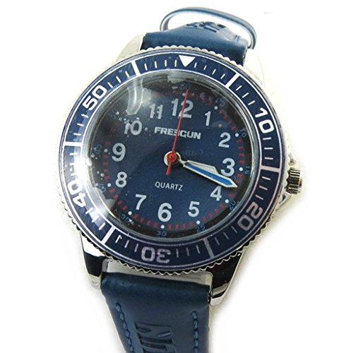 Freegun [N3823] - Orologio da polso 'french touch' 'Freegun' blu scuro (esecutore).