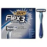 BIC Flex 3 Men's 3-Blade Disposable Razor, 10 Count