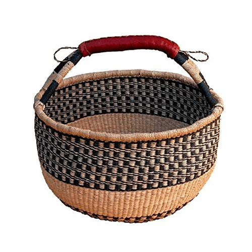"African Market Basket BOLGA Picnic - Large 14""-16"" Across (Colors Vary)"