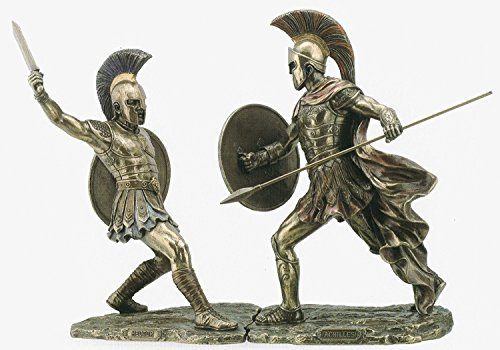Achilles & Hector Unleashed Battle of Troy Statue Skulptur Figur