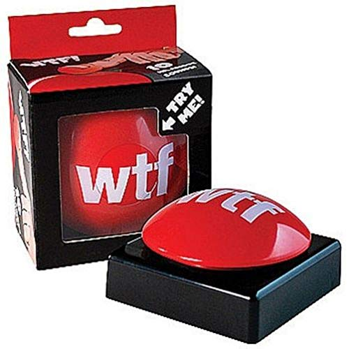 Funny WTF What The F%k Red Slam Button - Joke Gag Gift Prank Novelty with 10 Sound