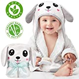 Kaome Baby Handtuch Kapuze Bio-Bambus Badetuch Kapuzenhandtuch Baby Großes weiches