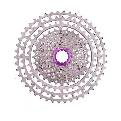 Lijincheng Ruedas Libres 10 Velocidad MTB Cassette de Bicicleta 11-46T SLR2 HG Plata Compatible 10S Freewheel 10V CNC K7 para MTB XX X0 X9 X7 M610 M781 M786 (Color : 10S 46T Silver)