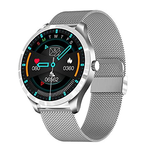 WSJZ Reloj Inteligente para Hombres/Mujeres,Pulsera Inteligente con Recordatorio Fisiológico,Monitor De Actividad Física con Monitorización De Frecuencia Cardíaca,para Teléfono Android/iOS,A