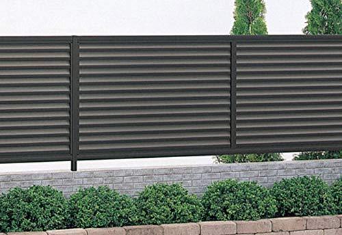目隠しフェンス幅1974mm×高さ1200mm ブラック 風通しの良いルーバータイプ 格安アルミフェンス 横目隠し 外構 DIY 安心の日本製 送料無料
