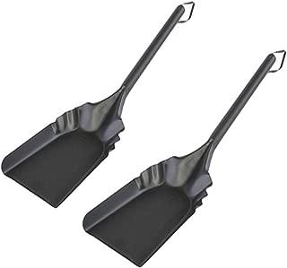 "Rocky Mountain Goods Fireplace Ash Shovel Long - 20"" - Heavy Gauge Steel - Heat Resistant Paint/Finish - Leather Hang Strap - Coal Shovel for Wood Stove (2)"