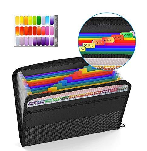 carpeta clasificadora,Carpeta Expandible,carpeta acordeon,Portátil Organizador de Archivos A4 de Cremallera,A4 bolsa de...