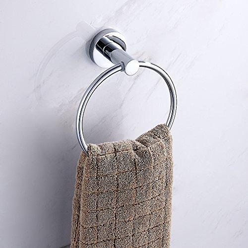 Wellbeingjp タオルリング タオル掛け ステンレス 強力固定 壁掛け タオルハンガー タオル収納 タオルホルダー キッチン用 風呂 浴室用 バスルーム おしゃれ 耐食 耐摩擦 取り付け簡単 干しやすい 入れやすい ネジ付き