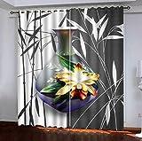KAOLWY Cortina Opaca Porcelana Oriental L87 X54 W/220X215Cm Aislantes Dormitorio Infantil Bebe...