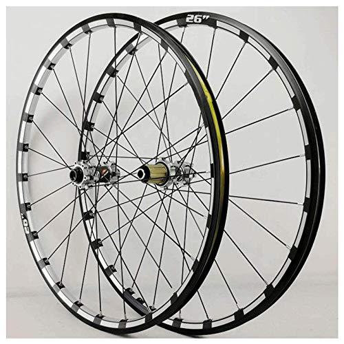 TYXTYX MTB Juego de Ruedas de Bicicleta Juego de Ruedas de Bicicleta Rueda de Bicicleta Delantera Trasera Llantas CNC Rueda de Freno de Disco Buje de rodamiento Sellado de conducción 24 Agujeros 7-