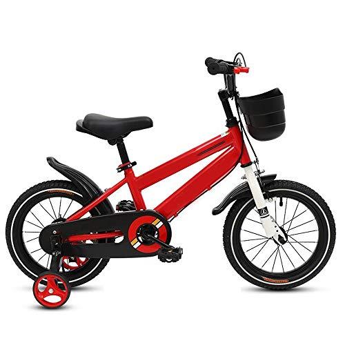 YummeIge Fietsen en voertuigen voor kinderen, jongens, meisjes, frame van koolstofstaal, fiets, kinderen, voor leeftijd, 22-59 inch, hoogte 2 tot 12 jaar, freestyle, met formaat 12in Rood