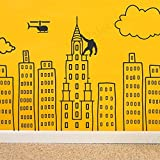 Wallency Doodled City Skyline Removable Wall Decal