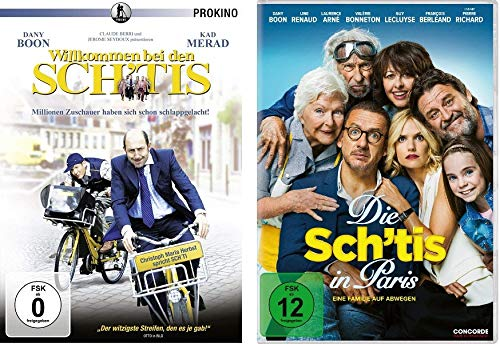 Willkommen bei den Sch´tis + Die Sch´tis in Paris - Eine Familie auf Abwegen im Set - Deutsche Originalware [2 DVDs]