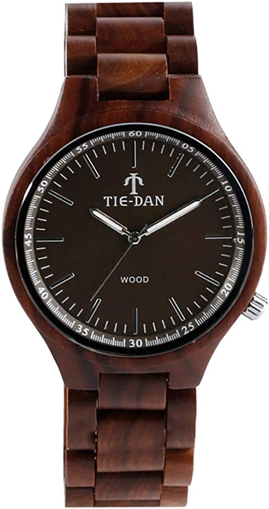 Spring new work Men's Topics on TV Wooden Wristwatches Full Wood Simple Design Watch Bamboo