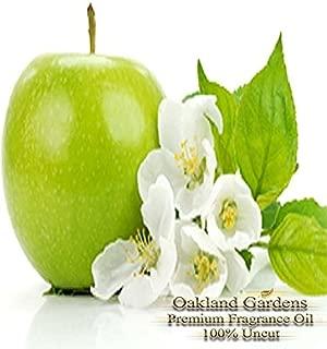 GREEN APPLE Fragrance Oil - 100% Pure Premium Grade Oil - Green, peely notes subtly soften the pervading sweetness of crisp ripe green apples - BULK Frangrance Oil By Oakland Gardens (030 mL - 1.0 fl oz Bottle)