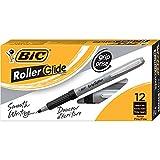 BIC Grip Roller Pens, Black, Fine-0.7mm, Dozen Box