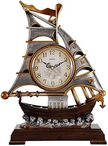 YEESEU Reloj de Mesa Relojes del Reloj de la Familia Europea Sala Gran decoración del Reloj Conveniente for la Oficina salón Dormitorio (Color, Color de la Imagen), Imagen en Color