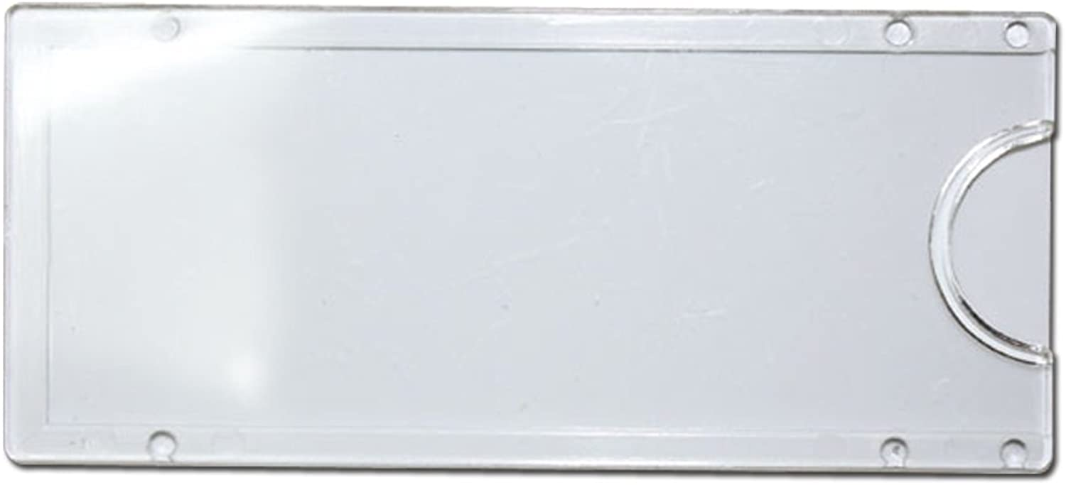 JC Handle White Wall or Door Name Plate Holder Small 80x35mm Acrylic Pack of 20