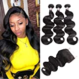 YePei Lace Front Wigs Human Hair (10 12 14 with 10 free, nature color)