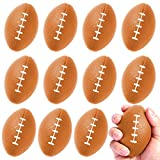 FUNNISM 12 Pack Mini Football Stress Balls,Squeeze Foam Soccer Ball for Stress/Anxiety Relief,Relaxation,Classroom Prize,School Carnival Reward,Superbowl and Kids Sports Birthday Party Favor Toy Gift