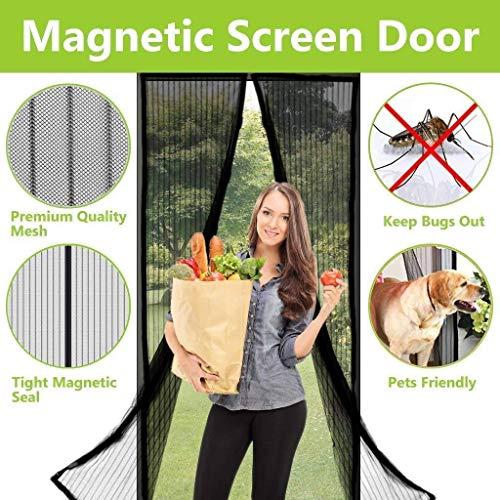 JBP max Tenda Nera per zanzare, Chiusura Magnetica Automatica, Rete Magica sigillata - Installazione di punzonatura Gratuita,200x250cm
