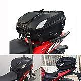 Hecktasche Motorrad/Motorrad-Sitztasche - doppelter Einsatz Motorrad Rucksack Wasserdicht Gepäck Taschen Motorrad Helm Tasche Aufbewahrungstaschen
