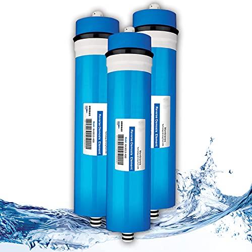 XCJ Membrana Seca de ósmosis inversa 3013-400 GPD Membrana RO para Sistema purificador de Agua doméstico, tasa de desalinización del 98%
