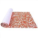Lámina de Cubierta de Barco Camuflaje EVA Alfombrilla para Suelo de Barco Alfombra Antideslizante Alfombrilla(Rojo Blanco)
