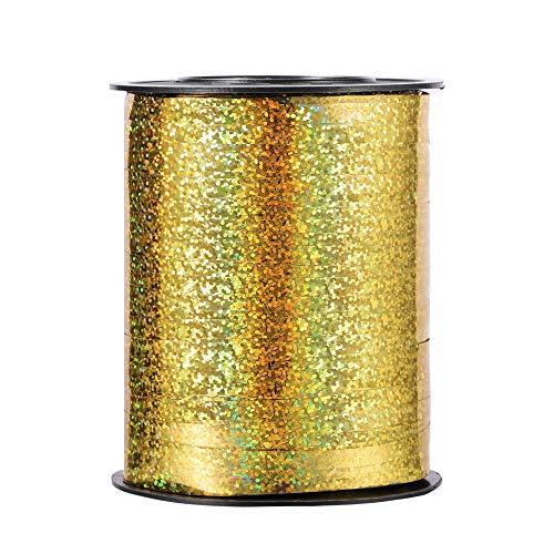 Molshine cinta de globo láser suave,de 500 yardas,rollo de cuerda de globo rizado brillante para bricolaje,fiestas,decoración de bodas, embalaje de regalo (antiguo)