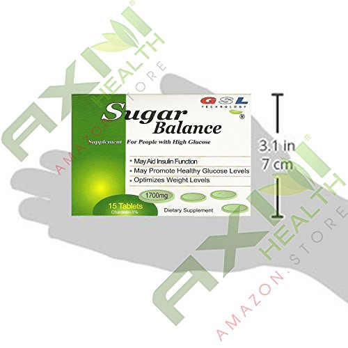 (36 Boxes) Sugar Balance Supplement for People with High Glucose 15 Tablets Per Box (36 Pack) by GSL