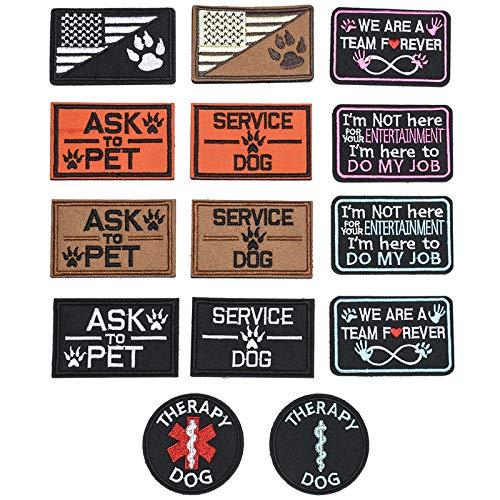 Butie 14pcs Dog Hook & Loop Tactical Patches (RF-66)