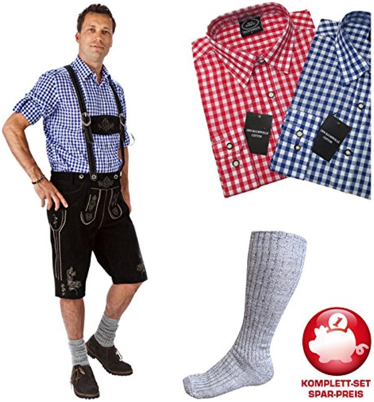 PARTY DISCOUNT Kostüm-Set Trachtenhose & Rot-weies Hemd Gr. 46