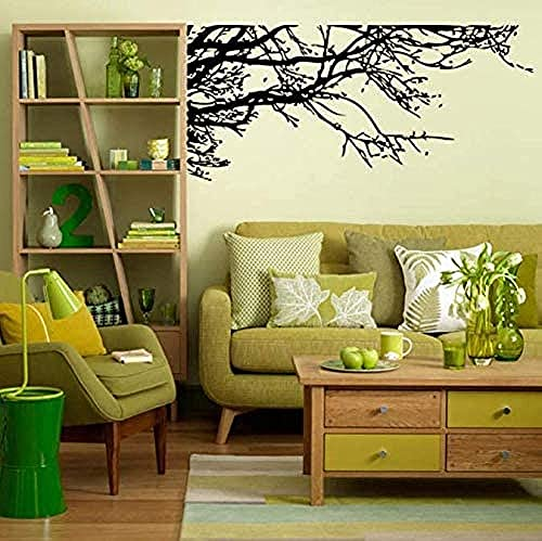 Etiqueta de la pared Black Tree Branch Living Removible Vinyl DIY Soep Decals