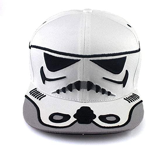 Sun Sombrero De Moda Casual Salvaje, Estrella Guerras Imperio Tormenta Comando Comando Plana Gorra Sombrero De Béisbol Hombrero De Béisbol De Hip Hop, Sombrero De Gorra De Béisbol Ajusta(Color:blanco)