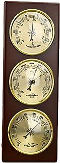 UIHhdas Stazione meteorologica Tradizionale con barometro Igrometro Termometro Quadrante Base in Legno Stazione meteorolog...