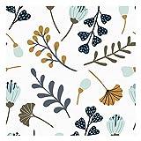 Vinilo Adhesivo para Mueble y Pared, 44 x 200 cm, Floral, Multicolor, Fondo Blanco, VNL-016