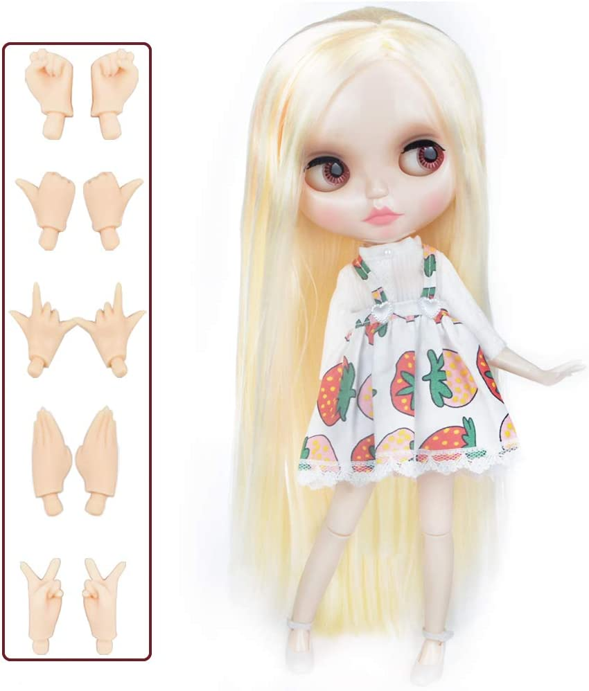 YM18 4-Color Changing Eyes Shiny Face and Ball Jointed Body Dolls Nude Doll Sold Exclude Clothes 12 Inch Customized Dolls with Five Hands 1//6 BJD Doll is Similar to Neo Blythe