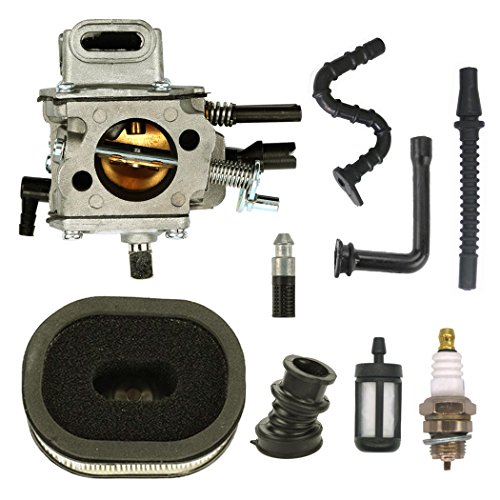 NIMTEK Carburetor with Air Filter Fuel Line Spark Plug Kit Fits for STIHL MS640 MS650 MS660 064 066 Chainsaw Carb