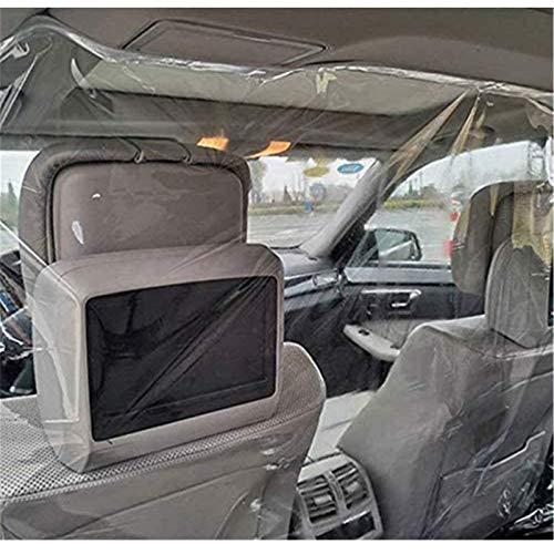 GFYWZ Taxifahrer Autoschutz Trennwand Bildschirm Kabinenisolationsfolie Transparente Tröpfchenschutzfolie Auto Interieur, 1,4 * 2 M, SUV